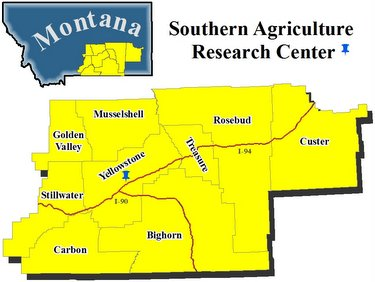 map of 9 counties in SC Montana
